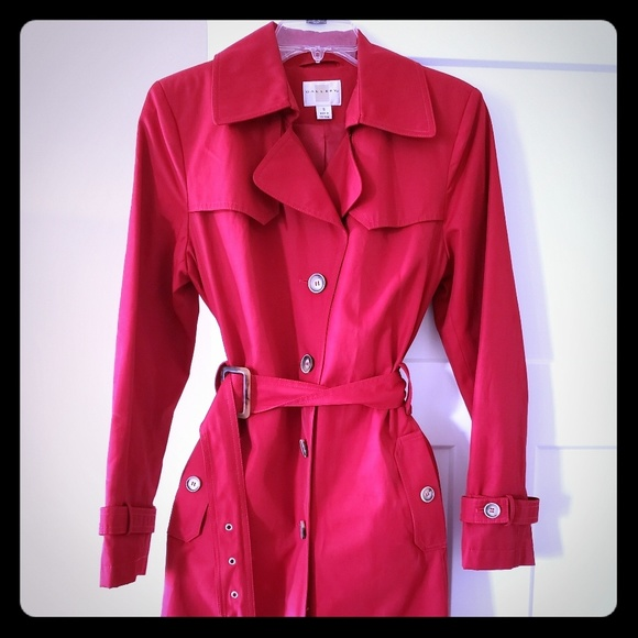 good looking unique design 50% price Womens red raincoat